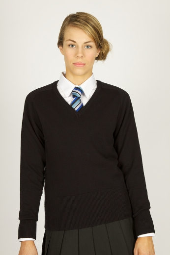 1014-trutex-girls-vneck-jumper-black