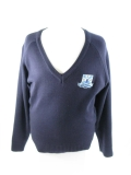 Island Free School V-Neck Jumper 50/50 Navy