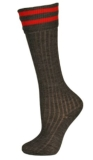 Ryde School Junior Day Socks - Red Stripes