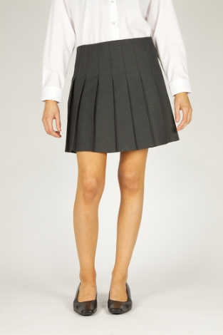 tr-girls-pleated-grey-skirt-hgy-size-28-l18